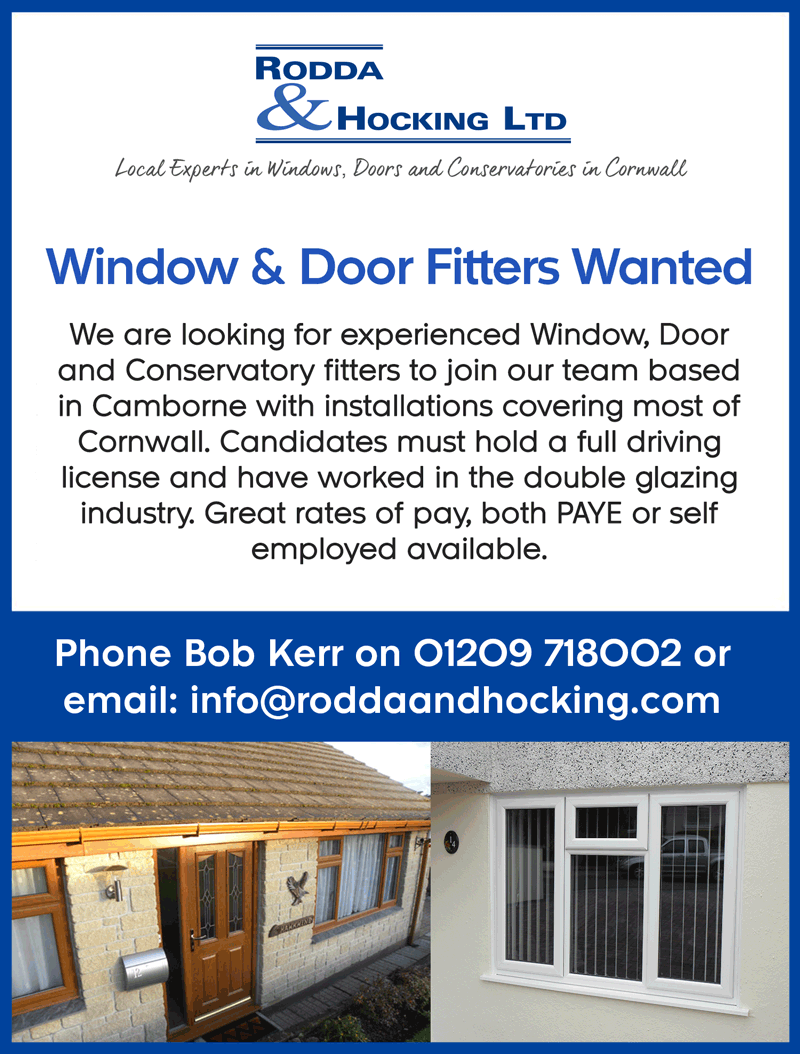 Window and Door Fitters Wanted